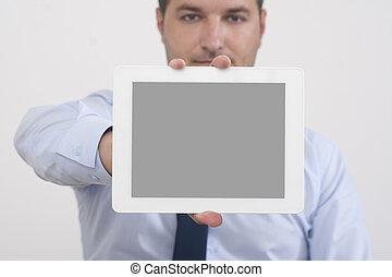 pokaz, ekran, tabliczka, cyfrowy