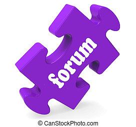 pokaz, forum, rozmowy, porada, współposiadanie, online, zagadka, dyskusja