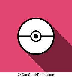 Pokeball icon vector isolated