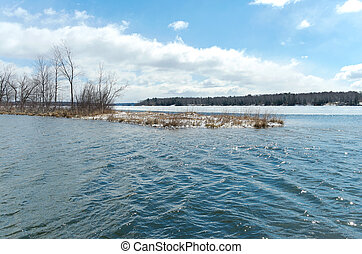 Pokegama Lake Cove and Horizons - inlet and distant horizons...