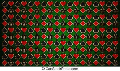 poker., 手ざわり, 黒, カード, 赤, &