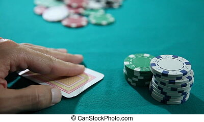 Poker 3 - Texas Hold'em Poker Ace King and Chips, shoot...