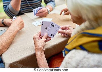 poker, amis, jouer