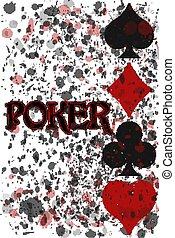 Poker background invitation, vector illustration