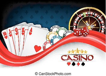 Poker background - Illustration of Background red white...