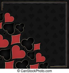 Poker background with card symbols