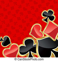 Poker background with symbols of cards for design
