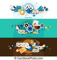 Poker banners set