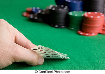 Poker Bluff - Bluffing with a poor poker hand