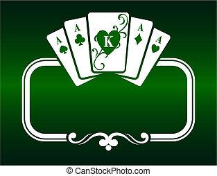 poker, cadre