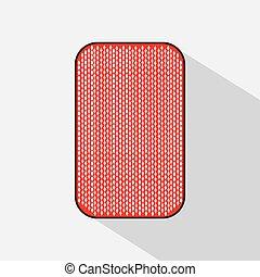 poker card. BACKSIDE. white background to be easily separable. icon illustration image used for print, website, fabrics, decorating, design, etc