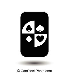 poker card. COVER black and white.  background.