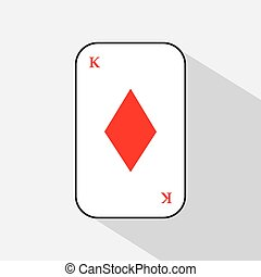 poker card. DIAMOND QUEEN. white background to be easily separable. icon illustration image used for print, website, fabrics, decorating, design, etc.