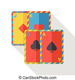 poker card flat icon