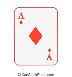 poker card isolated icon design