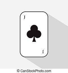 poker card. JOKER CLUB. white background to be easily separable. icon illustration image used for print, website, fabrics, decorating, design, etc.