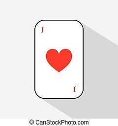 poker card. JOKER HEART. white background to be easily separable. icon illustration image used for print, website, fabrics, decorating, design, etc.