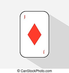 poker card. KING DIAMOND. white background to be easily separable. icon illustration image used for print, website, fabrics, decorating, design, etc.