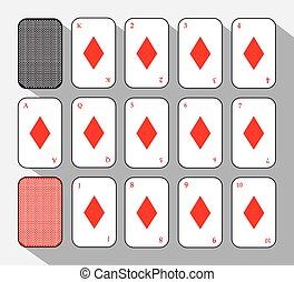 poker card. SETH DIAMOND. white background to be easily separable. icon illustration image used for print, website, fabrics, decorating, design, etc.