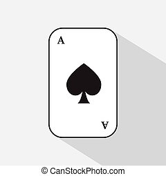 poker card. spade ace. white background to be easily separable. icon illustration image used for print, website, fabrics, decorating, design, etc.