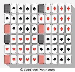 poker card. SPADE CLUB. BLACK. White background.
