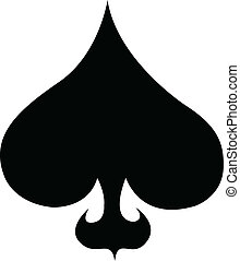 Poker card suit of spades clip art - A poker or card game...