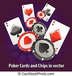 Poker Cards and Chips background