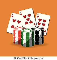 poker cards and chips gamble fortune