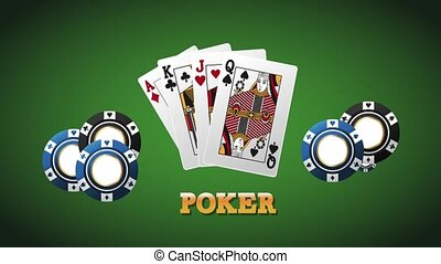 Poker cards and chips HD animation - Poker cards and chips...