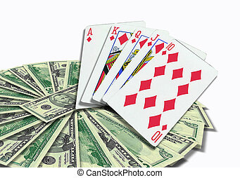 Poker Cards and money