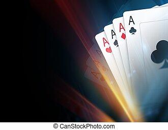 Poker Cards Background - Poker Cards Dark Background...