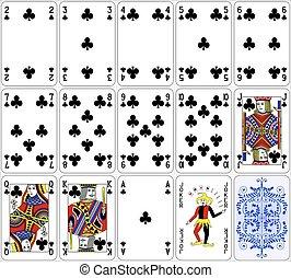 Poker cards club set classic