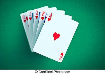 poker cards. flush