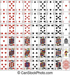 Poker cards full set classic - Poker cards full set four...