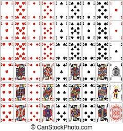 Poker cards full set classic - Poker cards full set four...