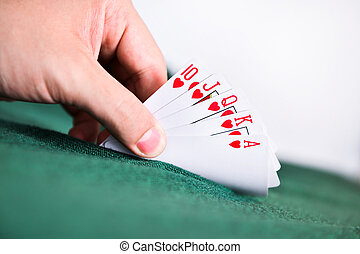 Poker Cards on hand