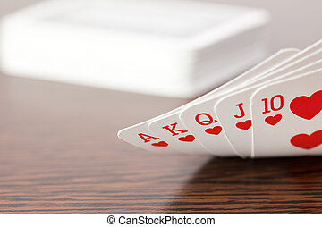 poker cards on table