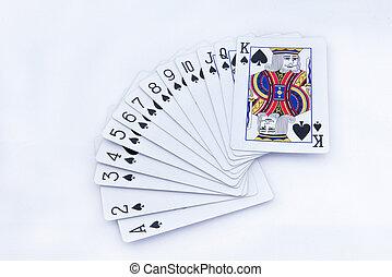 poker cards on white background