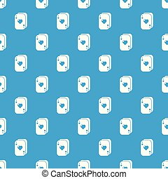 Poker cards pattern vector seamless blue