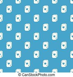 Poker cards pattern vector seamless blue