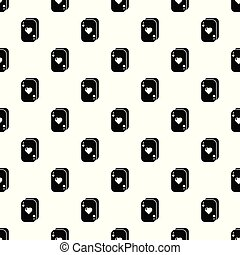 Poker cards pattern vector seamless