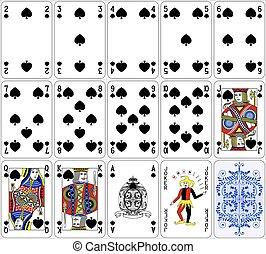 Poker cards spade set classic
