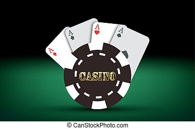 Poker cards. Vector Casino elements