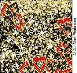 Poker casino background, vector