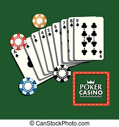 poker casino billboard poster cards and chips fortune gamble