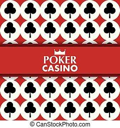 poker casino card clover symbol poster