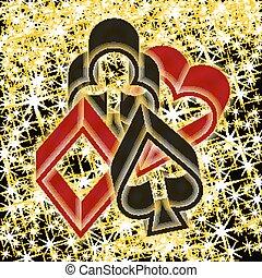 Poker casino card, vector illustration