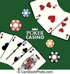 poker casino cards chips bet theme design
