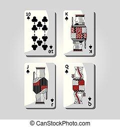 poker casino cards playing club design