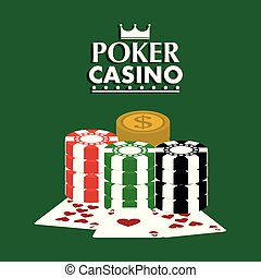 poker casino club cards chips dollar game concept